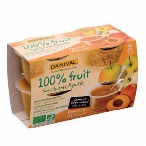 Dessert de fruits Pomme Abricot bio