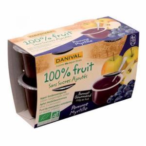 Dessert de fruits Pomme Myrtille bio