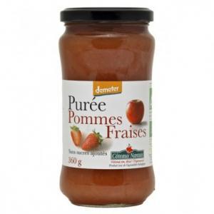 Purée Pommes Fraises bio
