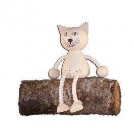 Pantin en bois Chat