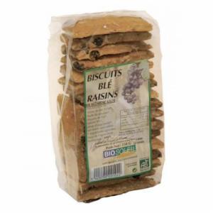 Biscuits blé raisins bio