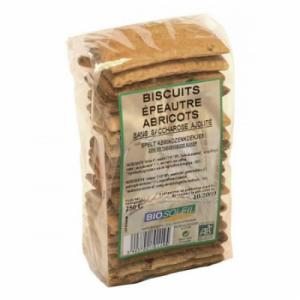 Biscuits épeautre abricot bio