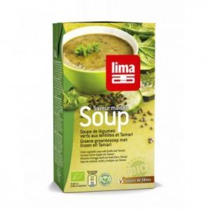 Soupe légumes verts et lentilles bio
