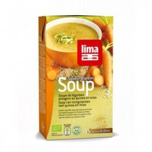 Soupe potagère au quinoa bio