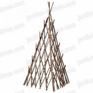 Trièdre en acacia 160cm x2