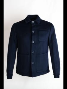 Wool shirt jacket - Total Eclipse - Knowledge cotton apparel