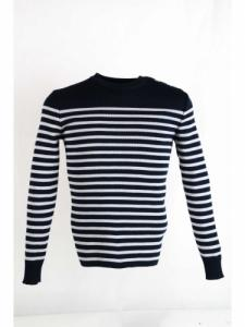 Pull Rochefort 1R - Navy / Ecume - Saint James