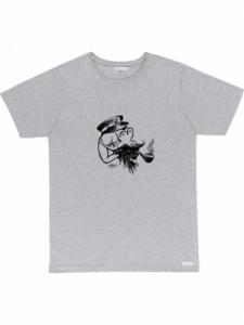 Flipgirl tee - Grey - Bask in the sun