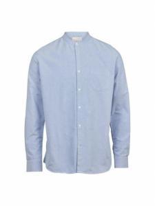 Elder LS Stand Collar Shirt - Limoges - Knowledge cotton apparel