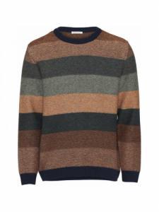 Multi colored striped - Green Forest - Knowledge Cotton Apparel