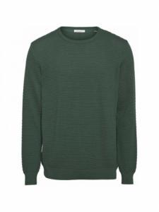 Field o-neck sailor knit - Pineneedle - Knowledge cotton apparel