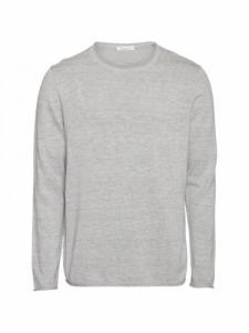 Forrest o-neck tencel knit - Grey Melange - Knowledge cotton apparel