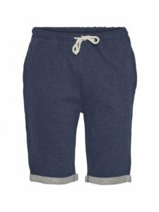 Teak Jog Short - Insigna Blue Melange - Knowledge cotton apparel