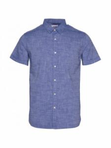 Larch SS Linen Shirt - Surf the Web - Knowledge cotton apparel