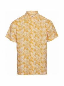 Chemise Larch SS Palm  - Zennia yellow - Knowledge cotton apparel