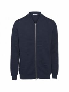 Cardigan Field Sailor Knit - Total Eclipse - Knowledge cotton apparel