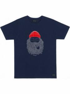 T-shirt Smoking Pipe - Navy - Bask in the sun