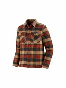 Insulated Fjord Flannel Jacket - Plots Burnished Red - Patagonia
