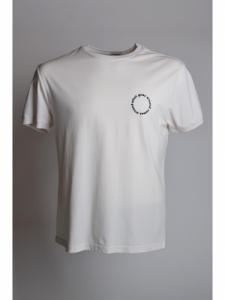 T-shirt College Tee Shirt SS - Off White / Dark Navy - Maison Labiche
