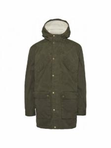 Manteau Nordic Legacy Expedition Long - Forrest Night - Knowledge Cotton Apparel