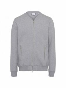 Cardigan ELM Quilted - Grey Melange - Knowledge Cotton Apparel