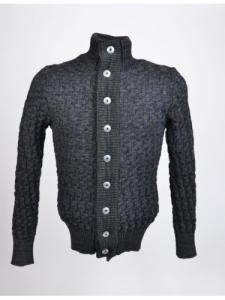 Stark Cardigan - Navy Green Blend - SNS Herning