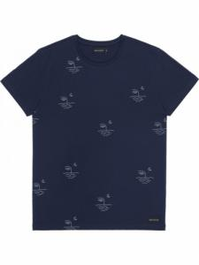 T-Shirt Moon - Navy - Bask in the sun