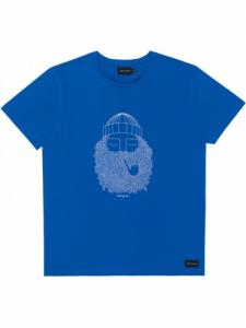 T-shirt Smoking Pipe - Cobalt - Bask in the sun