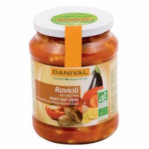 Ravioli légumes et cèpes bio