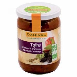 Tajine de légumes aux amandes et aux pruneaux bio