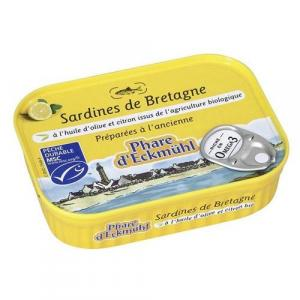 Sardine de Bretagne huile d'olive et citron