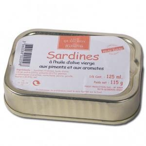Sardine huile d'olive Piment et aromates