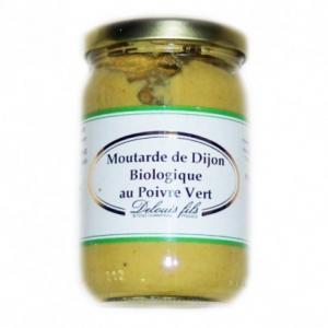 Moutarde de Dijon au poivre vert bio