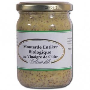 Moutarde entière bio au vinaigre de cidre