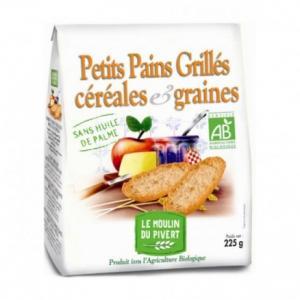 Petits pains grillés céréales - graines bio