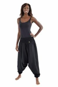 Pantalon sarouel elastique uni