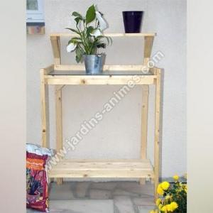 Table de rempotage bois - zinc