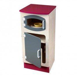 Meuble frigo micro ondes en bois