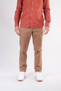 Chino droit camel en coton bio - chuck - Knowledge Cotton Apparel