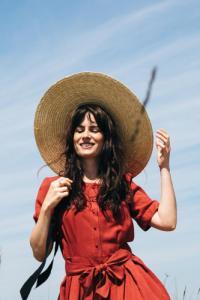 La Robe Moana - rouge - Atelier Unes
