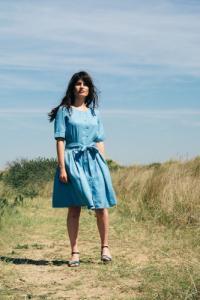 La Robe Moana - bleu-gris - Atelier Unes