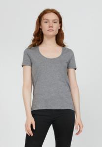 T-shirt col rond gris en tencel et coton bio - jaalila - Armedangels