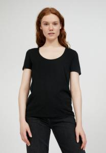 T-shirt col rond noir en tencel et coton bio - jaalila - Armedangels