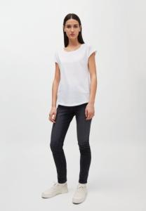 T-shirt uni blanc en coton bio - laale - Armedangels