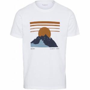 T-shirt imprimé blanc en coton bio - alder - Knowledge Cotton Apparel