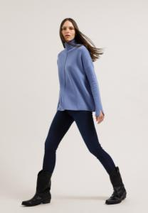 Pull ample col roulé bleu clair en coton bio - ayakaa - Armedangels