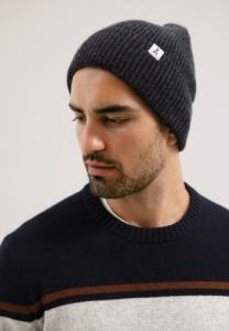 Bonnet gris foncé en coton bio et laine bio - maax - Armedangels