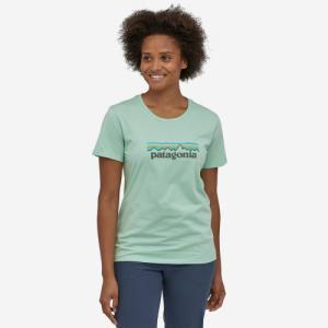 T-shirt imprimé vert pâle en coton bio - pastel p6 - Patagonia