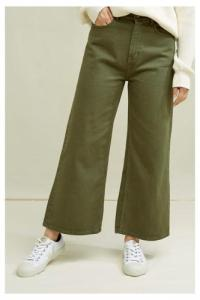 Pantalon en twill kaki ample en coton bio - ariel - People Tree