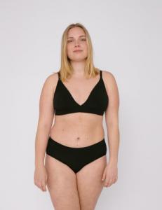 Pack 2 culottes noires en coton bio - Organic Basics